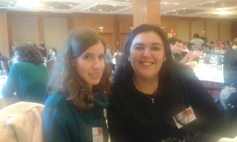 Beatriz y Noelia en la comida